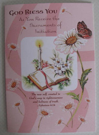 Sacraments of Initiation Card