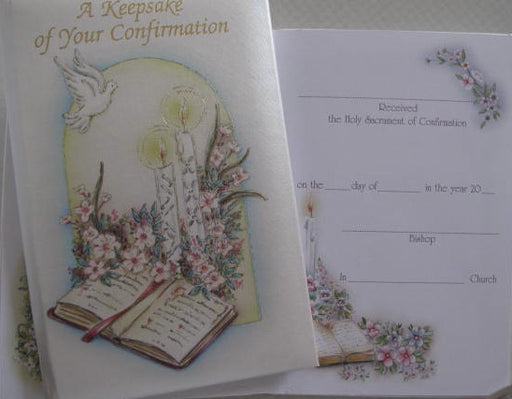 Confirmation Keepsake Card