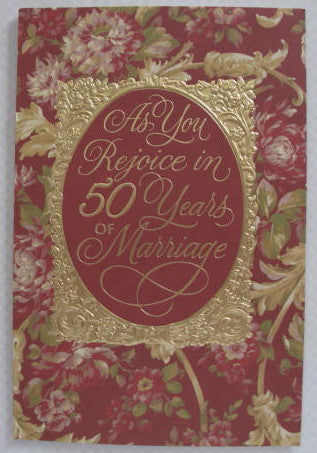 Golden Anniversary Card - Catholic Gifts Canada