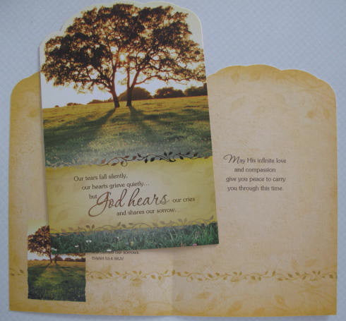 """God Hears"" Sympathy Card"