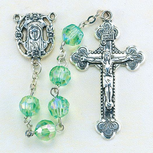 Birthstone Rosary for August
