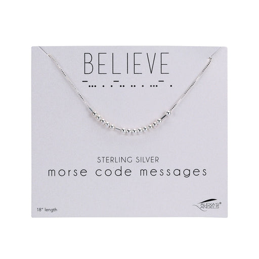"Morse Code Necklace ""Believe"""