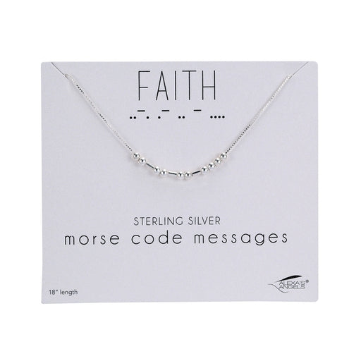 "Morse Code Necklace ""Faith"""