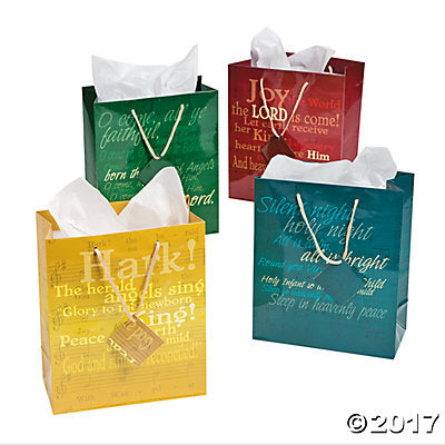 Yellow Hymn Gift Bag - Catholic Gifts Canada