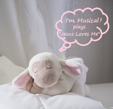 Musical Sleepy Lamb With Angel Wings