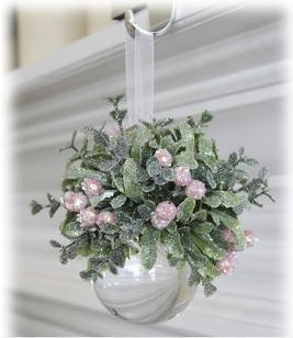 Pink Mistletoe Ball