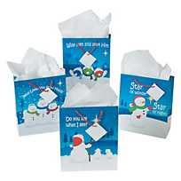 Faithful Snowman Gift Bags - Catholic Gifts Canada