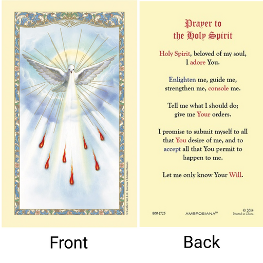 Holy Spirit Laminated Confirmation Card