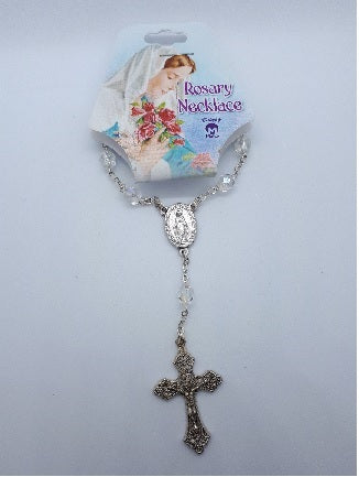 Rosary Necklace with Miraculous Medal