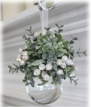 White Mistletoe Ball