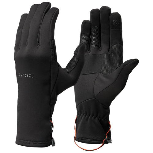 Trek 500 Adult Mountain Trekking Gloves - Black
