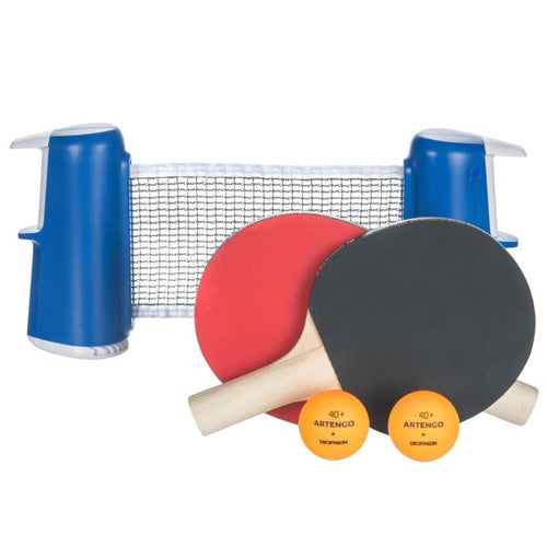 TABLE TENNIS SMALL ROLLNET SET OF 2 FREE TABLE TENNIS BATS AND 2 BALLS - ARTENGO - Decathlon New Zealand