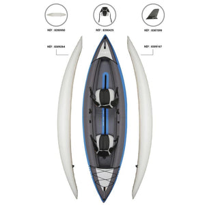 INFLATABLE KAYAK 2 PERSONS GREEN - ITIWIT - Decathlon New Zealand