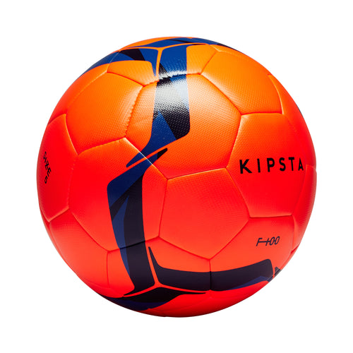 FOOTBALL BALL F100 HYBRID SIZE 5 - ORANGE/BLUE - KIPSTA - Decathlon New Zealand