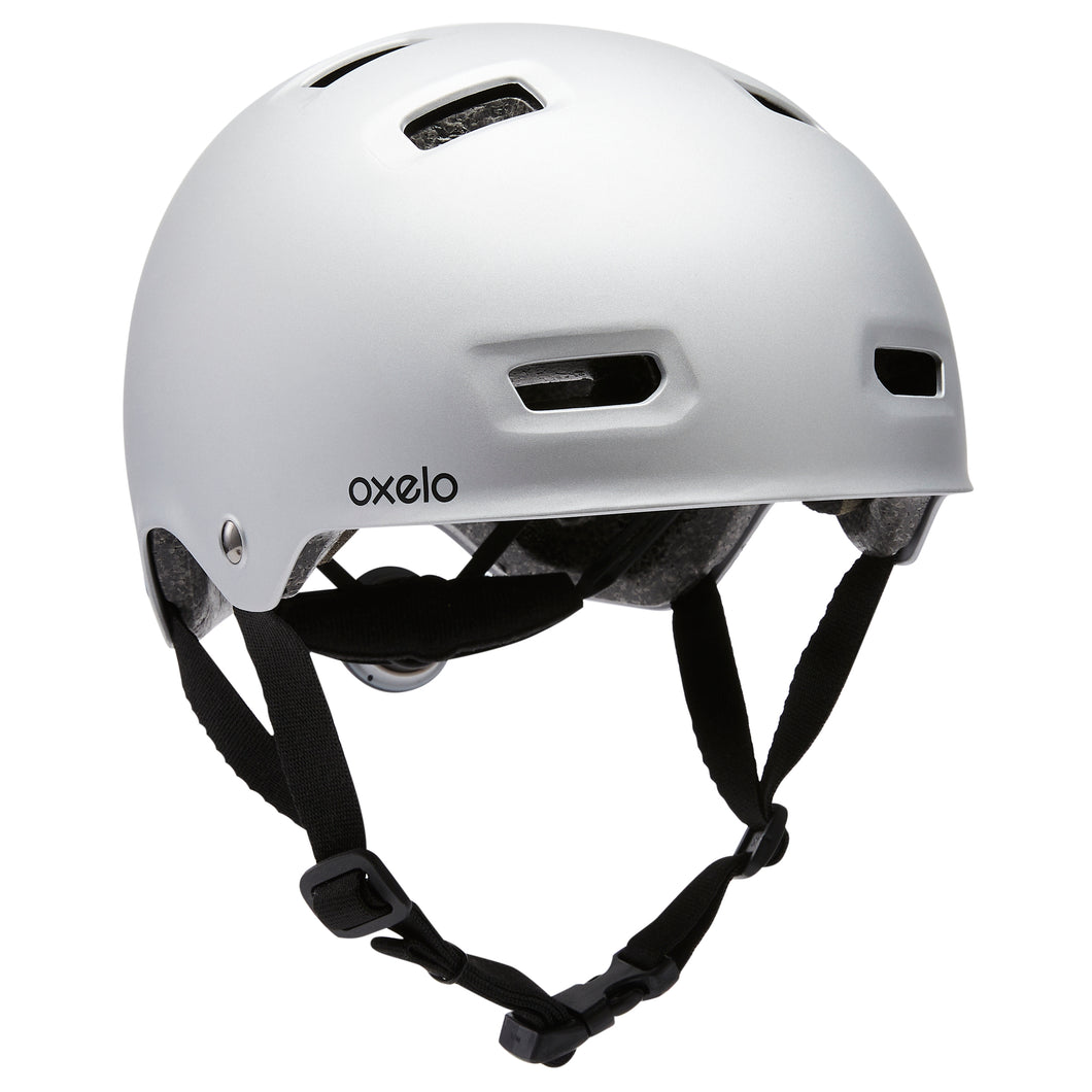 INLINE SKATING SKATEBOARDING SCOOTERING HELMET MF500 - GREY