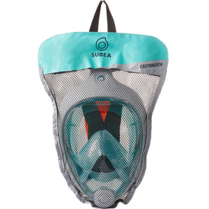 SNORKELING MASK EASYBREATH SURFACE - TURQUOISE - SUBEA - Decathlon New Zealand