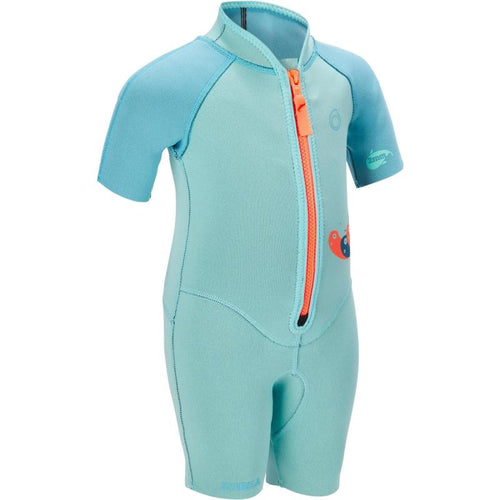 SNORKELING CHILDREN'S SHORTY 1.5MM BLUE TURQUOISE - SUBEA - Decathlon New Zealand
