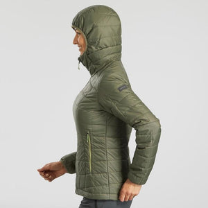 Trek 100 Women's Hiking Hooded Padded Jacket - Decathlon New Zealand
