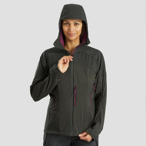 Women's Mountain Trekking Softshell Wind Jacket - TREK 900 - Khaki - Decathlon New Zealand
