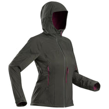 Load image into Gallery viewer, Women's Mountain Trekking Softshell Wind Jacket - TREK 900 - Khaki - Decathlon New Zealand