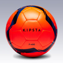 Load image into Gallery viewer, FOOTBALL BALL F100 HYBRID SIZE 5 - ORANGE/BLUE - KIPSTA - Decathlon New Zealand