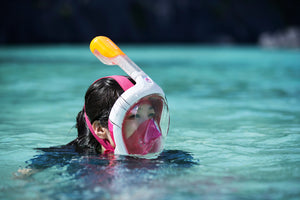 Surface Snorkelling Mask Easybreath 500 Pink