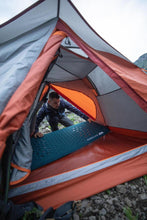 Load image into Gallery viewer, Trekking 3 Seasons Freestanding 3-Person Tent Trek 500 - Grey orange - Decathlon New Zealand