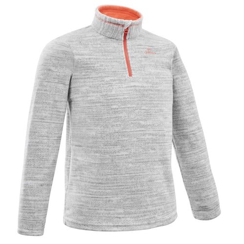 Kids' 7-15 Years Hiking Fleece MH100 - Grey - Decathlon New Zealand