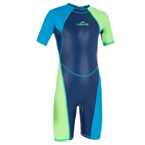 Boys' Swimming Shorty Suit Kloupi 100   Green