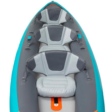 Load image into Gallery viewer, X100+ INFLATABLE HIGH-PRESSURE DROPSTITCH FLOOR 3-SEAT TOURING KAYAK - Decathlon New Zealand