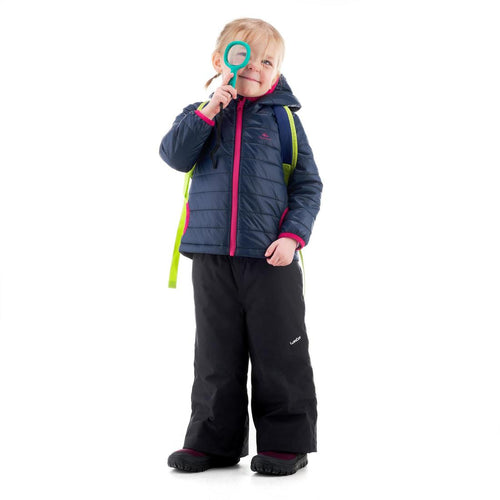 Kids' Hiking Padded Jacket MH Navy Blue - Decathlon New Zealand