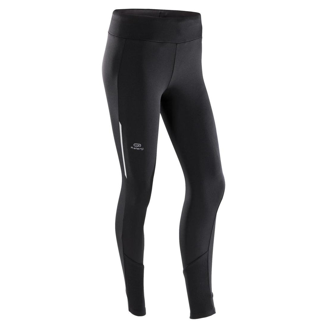 RUN WARM WOMEN'S RUNNING TIGHTS - BLACK - Decathlon New Zealand