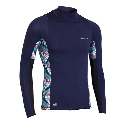 Men'S Surfing Long Sleeve Uv Protection Top T-Shirt 500 - Blue