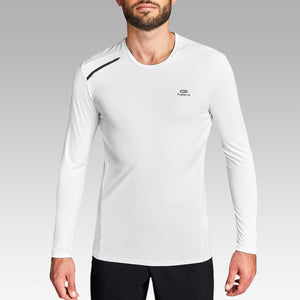 Sun Protect Men's Running T-Shirt - White - Decathlon New Zealand