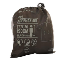 Load image into Gallery viewer, Hiking Rain Poncho Arpenaz 40L Size L/XL - Grey - Decathlon New Zealand