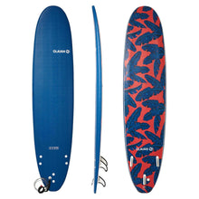 "Load image into Gallery viewer, 500 Foam Surfboard 8'6"". Supplied With A Leash And Three Fins."