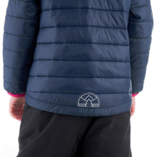 Load image into Gallery viewer, Kids' Hiking Padded Jacket MH Navy Blue - Decathlon New Zealand