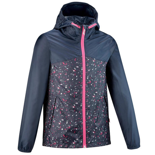Kids' waterproof walking jacket MH150 – Navy blue - Decathlon New Zealand