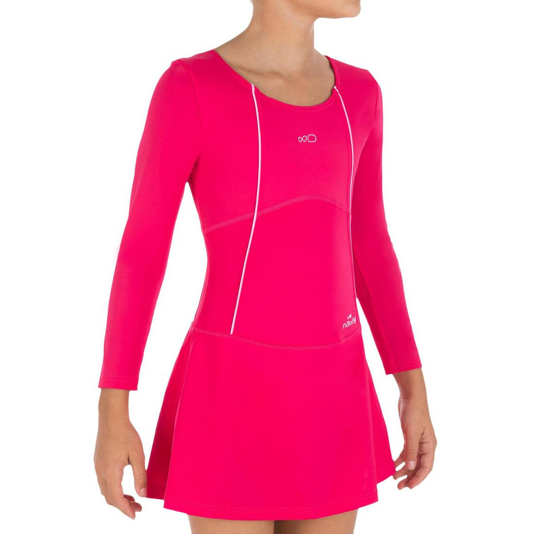 Girls Long Sleeved Skirt One-Piece Swimsuit - Audrey
