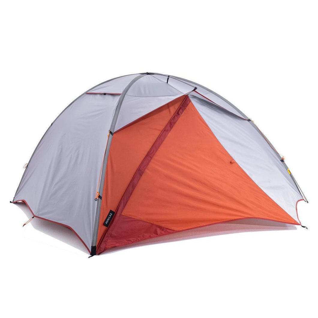 Trekking 3 Seasons Freestanding 3-Person Tent Trek 500 - Grey orange - Decathlon New Zealand