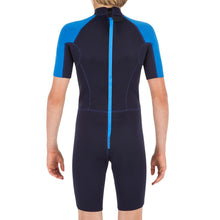 Load image into Gallery viewer, Child's 1.5mm neoprene Shorty Surfing wetsuit 100 - Blue - Decathlon New Zealand