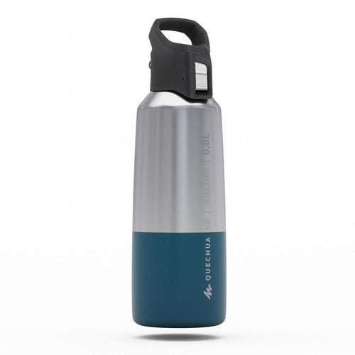 Insulated stainless flask hiking MH500 0.8L blue - Decathlon New Zealand