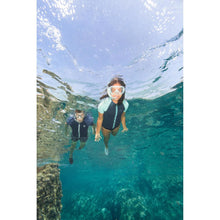 Load image into Gallery viewer, FRD 100 free-diving snorkel for children turquoise - Decathlon New Zealand