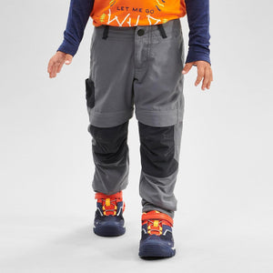 Kids' Zip-Off Hiking Trousers MH550 - Grey - Decathlon New Zealand