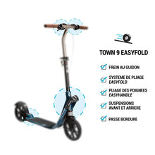 Load image into Gallery viewer, Town 9 Ef V2 Adult Scooter - Petrol Blue