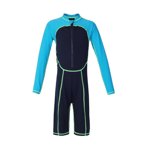 Boys' Long-Sleeve Shorty Swimsuit 100