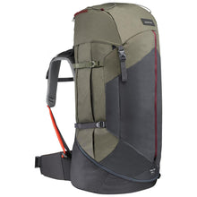 Load image into Gallery viewer, Women's Mountain Trekking Backpack Trek 100 Easyfit 60L - Khaki - Decathlon New Zealand