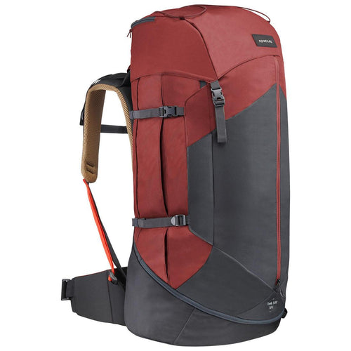 Men's mountain trekking rucksack | TREK 100 Easyfit 70L - ochre - Decathlon New Zealand