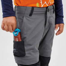 Load image into Gallery viewer, Kids' Zip-Off Hiking Trousers MH550 - Grey - Decathlon New Zealand