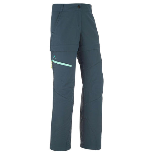 MH550 Children's Zip-Off Hiking Trousers - Grey - Decathlon New Zealand